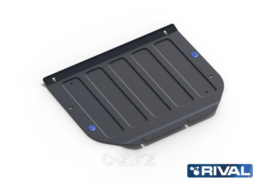 Защита картера + КПП + комплект крепежа, АвтоБРОНЯ, Hyundai Santa Fe 2010-2012,V - 2.2d; 2.4