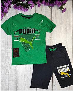 Костюм летний, Puma, цвет зеленый 7-8 лет