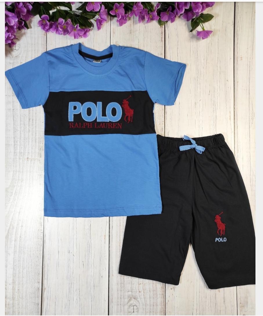 Костюм летний, Polo, цвет синий