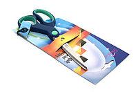 """Ножницы 130/50мм Dolphin арт.59215 5"""" прорезин.ручки в карт.уп. с европодвесом"""
