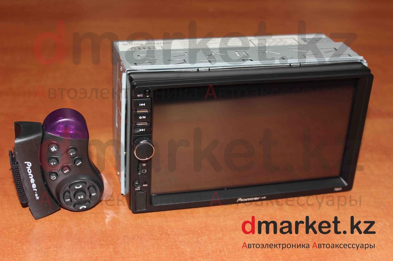 Автомагнитола 2DIN 7041, USB, AUX, MP3, Bluetooth, камера в подарок