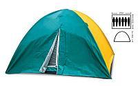 Палатка турист 6 мест, двухслойная, легкая, водонепроницаемая.