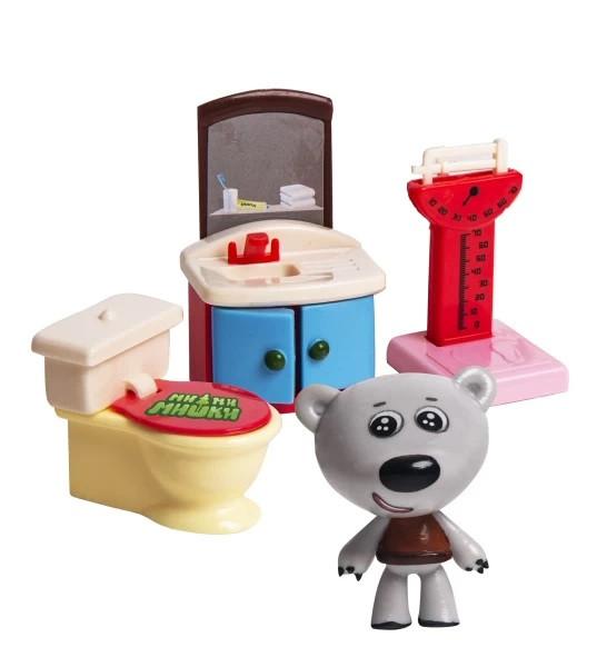 Игровой набор МИ-МИ-МИШКИ, Тучка, Ванная комната, 3 детали.