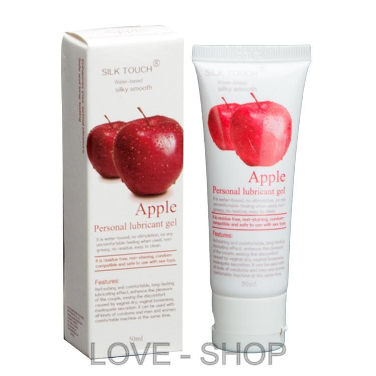 Silk Touch - оральная смазка со вкусом яблока (50 мл.)