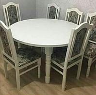 Круглый кухонный стол + стулья (размеры - индивидуально)