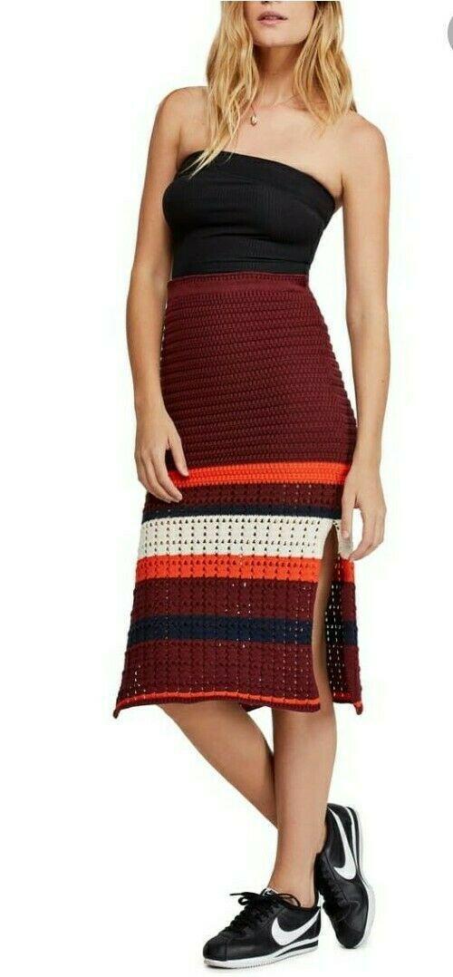 Free People Женская юбка вязанная 2000000389486