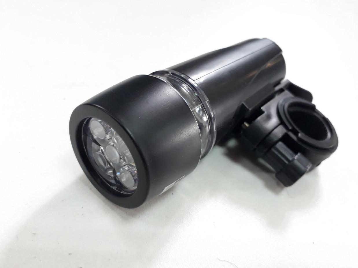 Передний фонарь на батарейках на руль велосипеда.