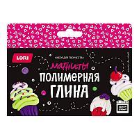 """Lori Набор Полимерной глины """"Магниты: Десерт """", 4 цвета"""