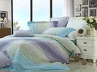 Комплект постельного белья Palette, полоса, голубой