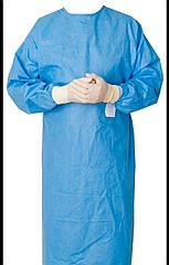 Халат хирургический стерильный Пл-ть 25-55гр/м2 Рукав манжет