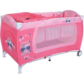 Детский манеж-кровать Lorelli Danny 2 (Розовый / Pink Kitty 1723)