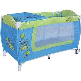 Детский манеж-кровать Lorelli Danny 2 (Сине-Зеленый / Blue&Green Car 1714)