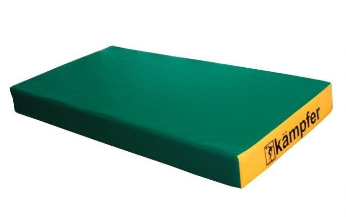 Спортивный мат РОМАНА №1 (100 х 50 х 10) (зеленый/желтый)