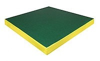 Спортивный мат РОМАНА №4 (100 х 100 х 10) нескладной (зеленый/желтый)