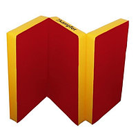 Спортивный мат РОМАНА №6 (100 х 150 х 10) складной (красный/желтый)