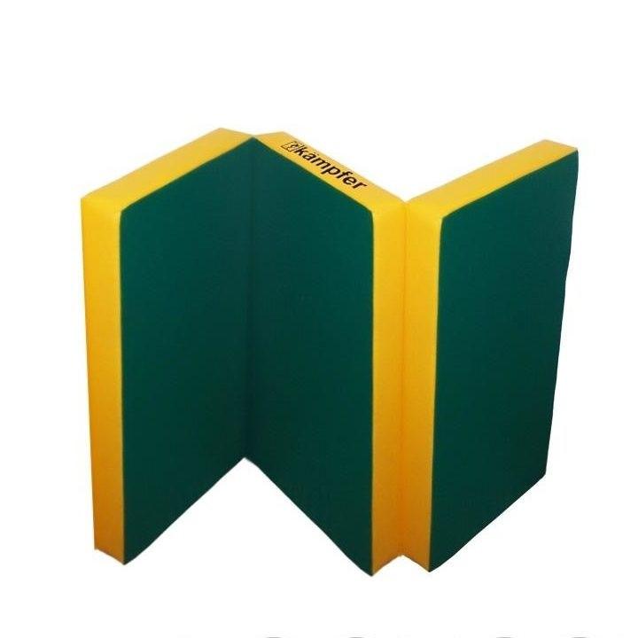 Спортивный мат РОМАНА №6 (100 х 150 х 10) складной (зеленый/желтый)
