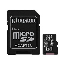 Kingston SDCS2/64GB-3P1A Карта памяти 64GB micro SDHC Canvas Select Plus 100R A1 C10 Two Pack + Single ADP