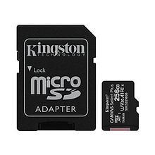 Kingston SDCS2/256GB 256GB Карта памяти microSDXC Canvas Select Plus 100R A1 C10 Card + Adapter