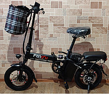Электровел.  Fengwu, мотор 48v 240w, аккум. Li-ion 48v 8 A/H. Дальность 40 км. Вес 19 кг.14''