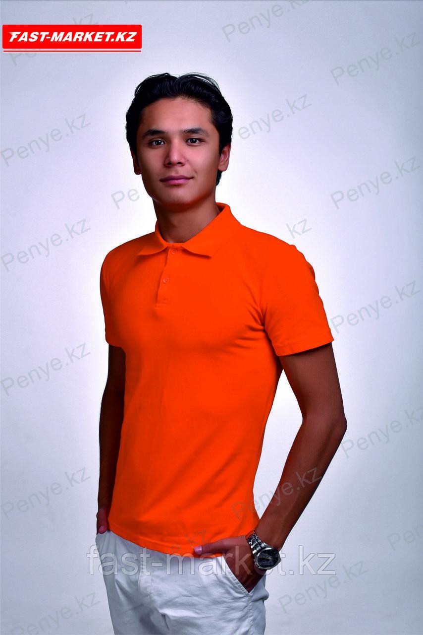 Купить футболку поло оранжевого цвета
