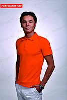 Купить футболку поло оранжевого цвета, фото 1