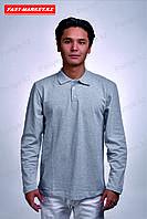 Рубашка поло с длинными рукавами меланж, фото 1