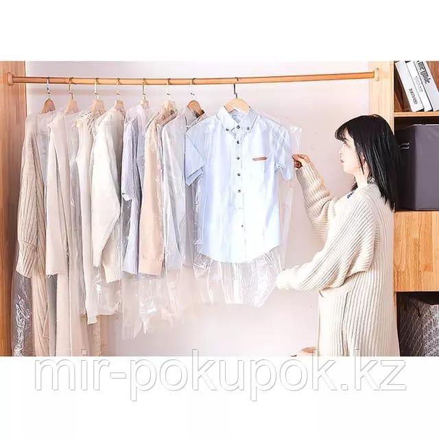Полиэтиленовые чехлы для хранения одежды (10шт) размер 60*90см
