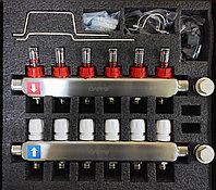 Коллекторный блок 6* вых нерж термо+расх G 424.6 GAPPO
