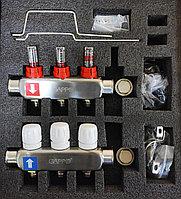 Коллекторный блок 3*вых нерж термо+расх G424.3 GAPPO