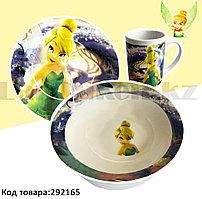 Набор детской посуды Фея Динь-Динь чашка тарелка кружка