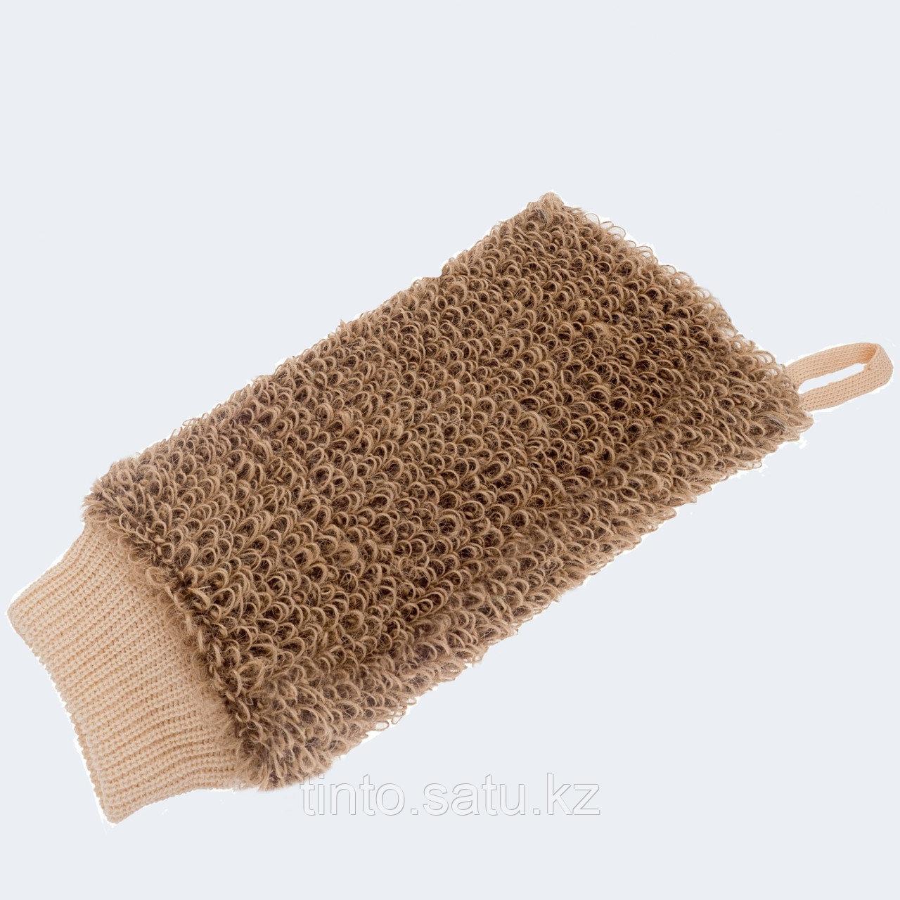 Мочалка-руковица из Джута Мойдодыр