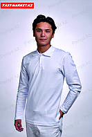 Белое поло с длинным рукавом алматы