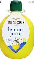 Концентрированный сок лимона De Nigris 200мл