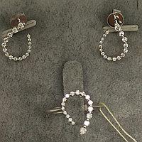 Пусеты и кольцо с бриллиантами