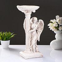 "Фигура ""Ангел девушка у колонны"" состаренный 17х22х43см"