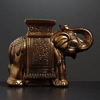 """Фигура - подставка """"Слон"""" бронза 21х54х43см"""