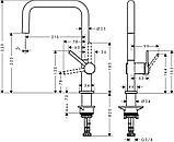 Talis M54  Кухонный смеситель, однорычажный, 270, с вытяжным изливом, 1jet, фото 3