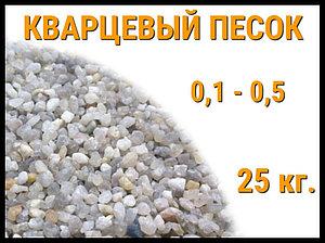 Кварцевый песок для фильтра бассейна 25 кг. (фракция 0,1-0,5 мм)