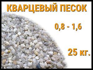 Кварцевый песок для фильтра бассейна 25 кг. (фракция 0,8-1,6 мм)