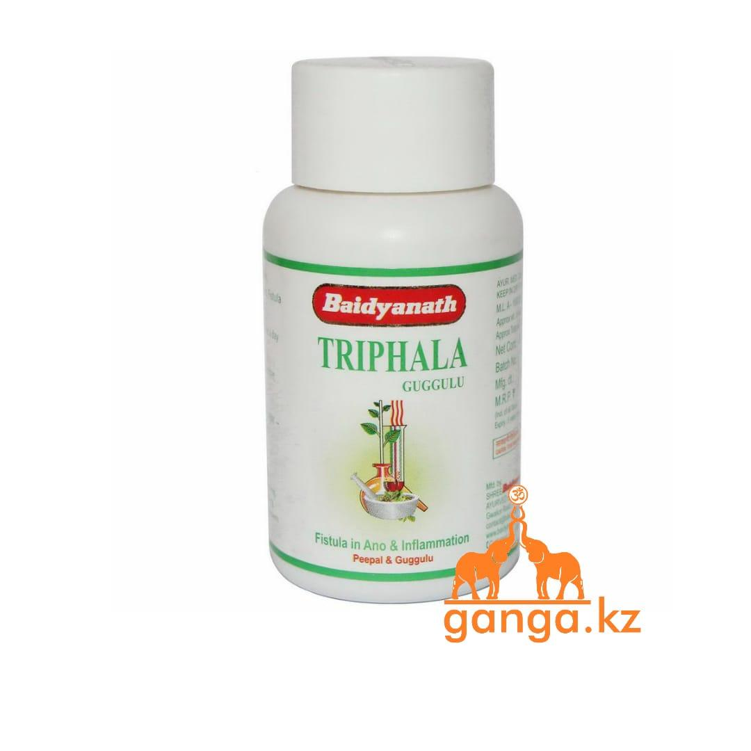 Трифала Гуггул для Очищения Организма (Triphala BAIDYANATH), 80 таб.