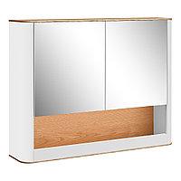 Шкаф навесной: 2 двери зеркальных и ниша 800