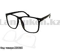 Компьютерные очки с тонкой душкой матовые черные С2