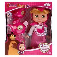 Кукла «Маша. Маша и медведь» с набором для чаепития, 25 см