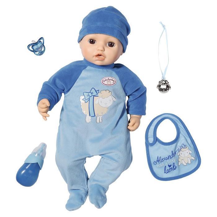 Кукла-мальчик Baby Annabell, 43 см, многофункциональная - фото 1