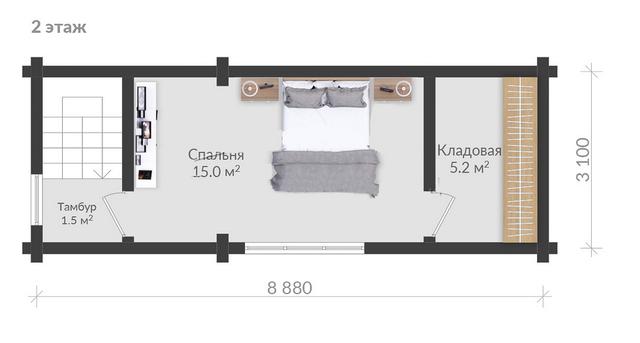 проект 2 этажной бани, баня проект, баня схема