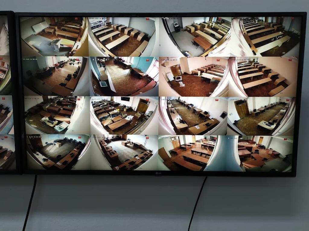 Установка системы видеонаблюдения в КБТУ (Казахстанско-Британском техническом университете)