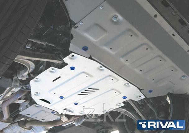 Защита КПП + комплект крепежа, Rival, Алюминий, Audi Q7 2015-н.в., фото 2
