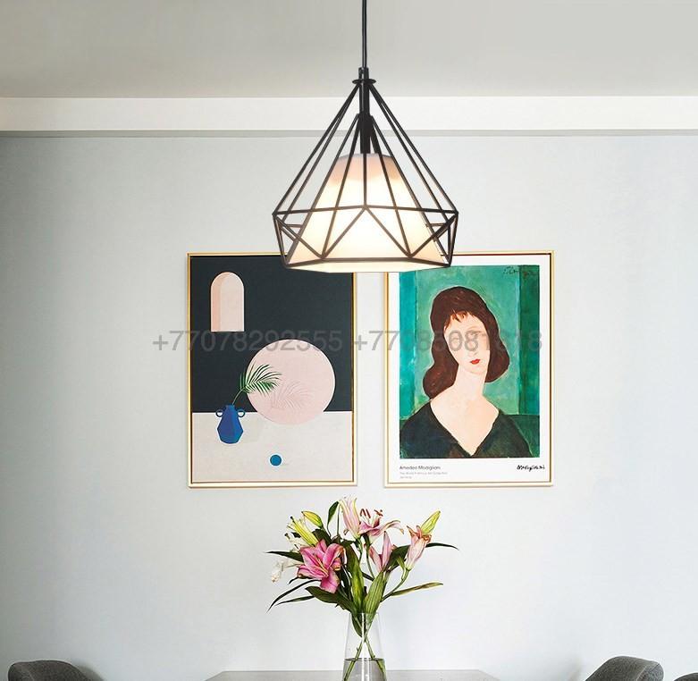 Подвесной светильник современный Лофт Черный