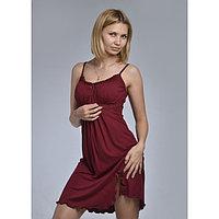 Сорочка женская «АССОЛЬ», цвет бордовый, размер 48