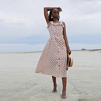 Сарафан женский MINAKU: Safari цвет белый/красный, р-р 50